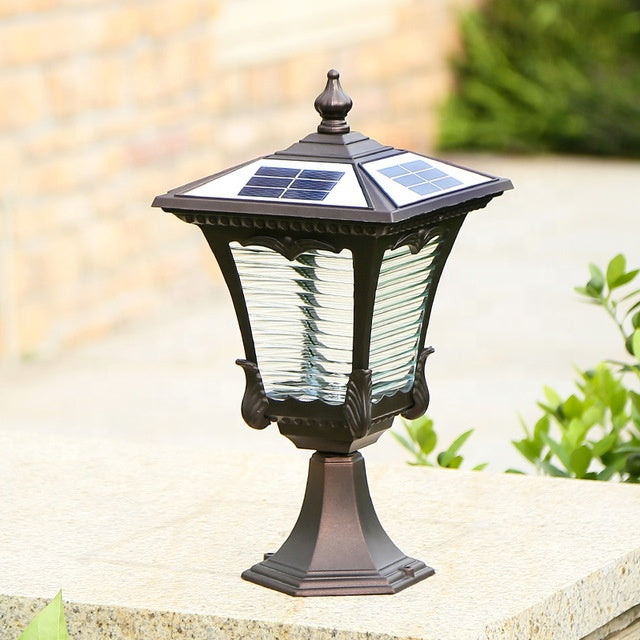 Aluminum Lamp Body Material and Cool White Color Temperature(CCT) Led Solar Powered Pillar Lights