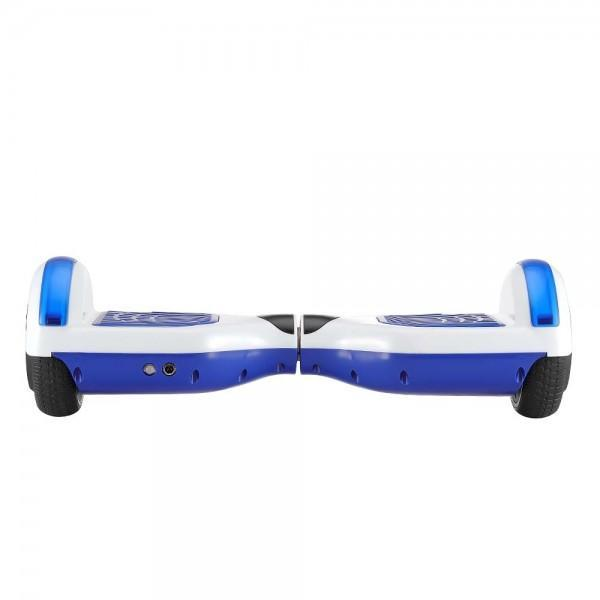 6.5 inch Smart Electric Hoverboard with LED Light - White Blue