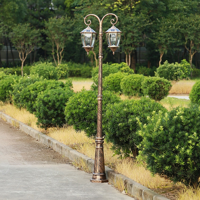 Wholesale High Quality 2.2M 2.5M Aluminum Patio Path Landscape Lithium Battery Led Solar Streetlight Price 2 buyers