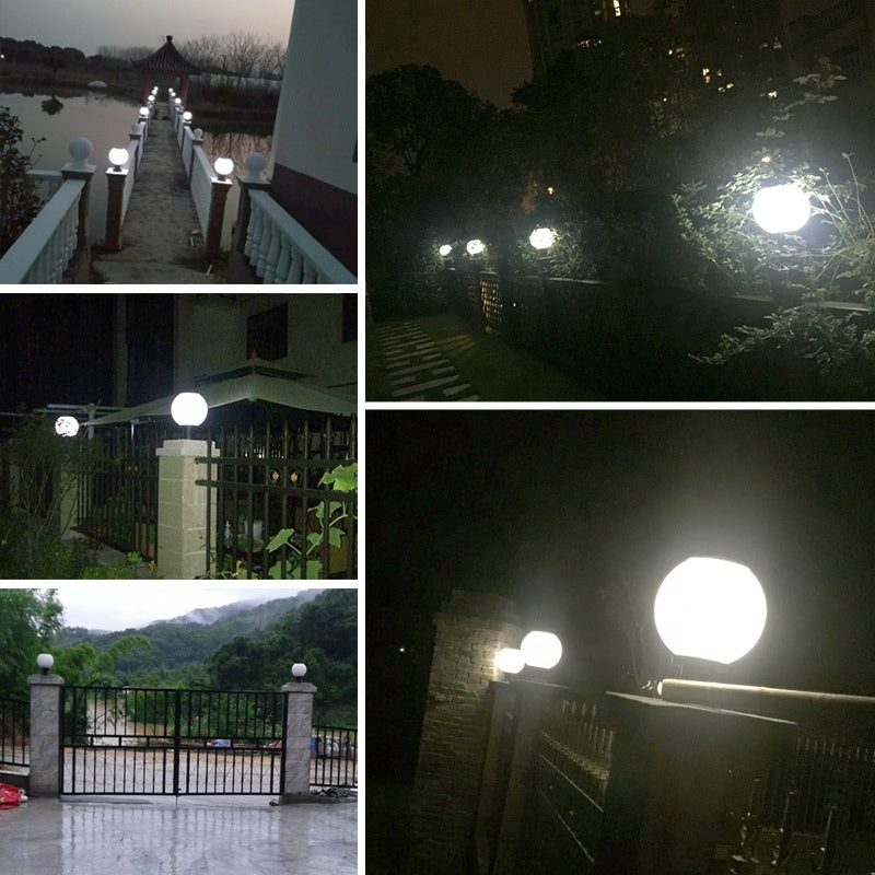 1.2W Energy Saving Light Type and 3.7V Voltage Outdoor Modern Garden Ball Pillar Light Solar Led Gate Light
