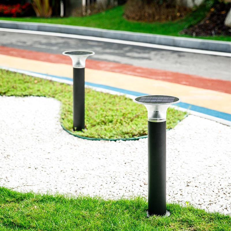 CE RoHS IP65 Certificate Aluminum Decorative Path Lawn Patio Lamp Outdoor Waterproof Led Solar Power Bollard Light Garden