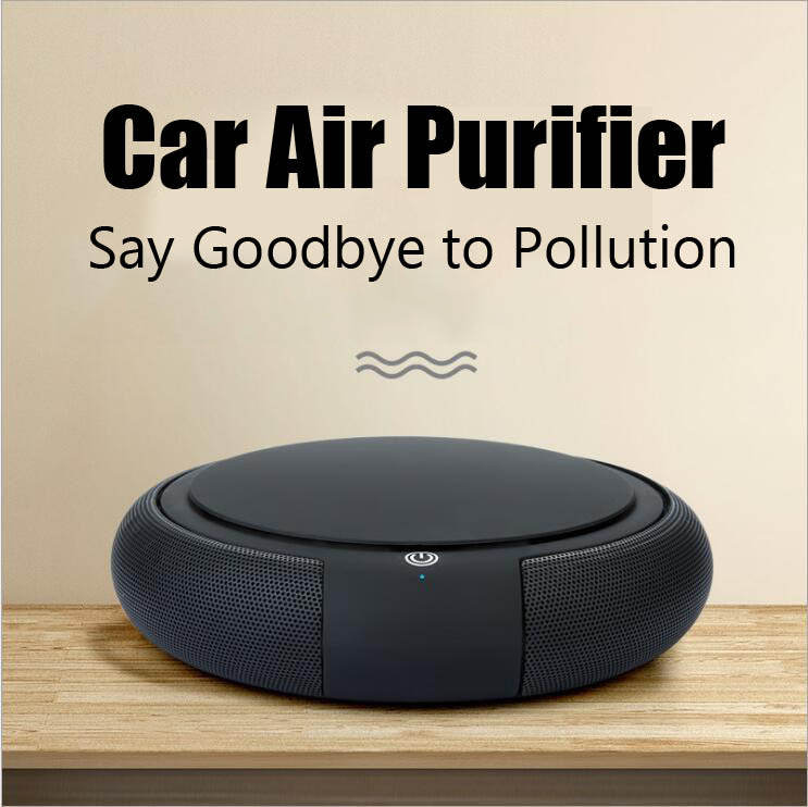 Portable air cleaner household solar powered usb car air purifier for drive travel_HL4603