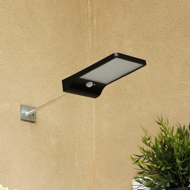 Waterproof Outdoor Motion Sensor Solar Gutter Lights Wall Sconces with Mounting Pole