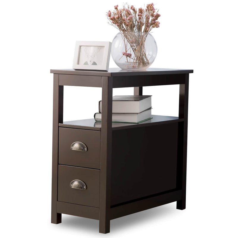 Bedside Table with 2 Drawers 60x30x61CM