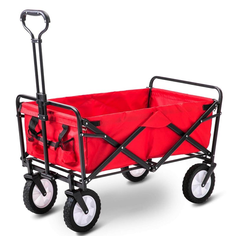 Garden Portable Folding Cart (Red)