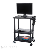 Adjustable Plastic AV/TV Cart