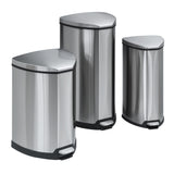 Stainless Step-On 4 Gallon Receptacle