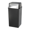 Reflections By Safco® Push Top Receptacle, 36-Gallon