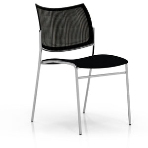 Escalate Chair, Mesh Back, Black Fabric Seat