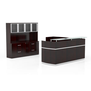Napoli® Reception Station with Return, 2 F/F Pedestals