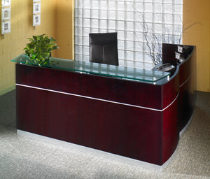 Napoli® Reception Station with Return, B/B/F & F/F Pedestals