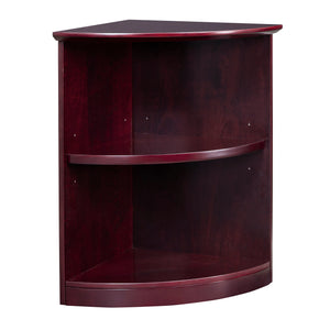 Veneer 2-Shelf, Quarter Round Bookcase
