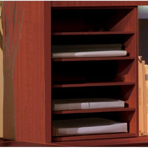 Aberdeen® Series Horizontal Paper Management in Cherry - Office Furniture Accessories by Mayline - Only at the-eggleston-group
