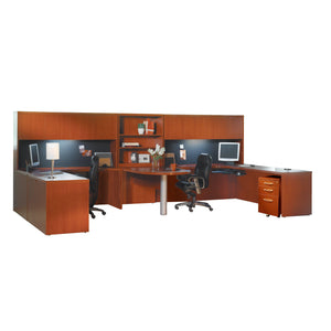 Aberdeen® Series Suite 17 in Cherry - Office Furniture Desks by Mayline - Only at the-eggleston-group