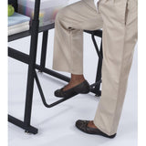"AlphaBetter® Adjustable-Height Stand-Up Desk, 28 x 20"" Standard Top, Book Box and Swinging Footrest Bar by Safco in - for The Eggleston Group"