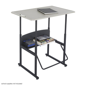 "AlphaBetter® Adjustable-Height Stand-Up Desk, 36 x 24"" Standard Top and Swinging Footrest Bar by Safco in - for The Eggleston Group"
