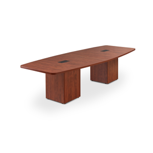 Boat Shaped Cube Base Conference Table by OfficeSource in 6' Table- for The Eggleston Group