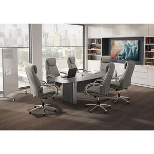 "Boat Shaped Elliptical Base Conference Table by OfficeSource in 95"" Table- for The Eggleston Group"