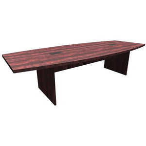 "Boat Shaped Slab Based Base Conference Table by OfficeSource in 95"" Table- for The Eggleston Group"