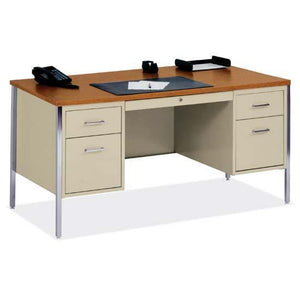 OfficeSource 500 Series Steel Desks Double Hanging Pedestal Desk in [variant_title] - Office Furniture Desks by OfficeSource - Only at the-eggleston-group