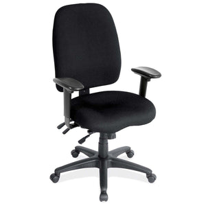 OfficeSource Advanced Collection High Back Task Chair with Adjustable Arms and Black Frame in [variant_title] - Office Furniture Seating by OfficeSource - Only at the-eggleston-group