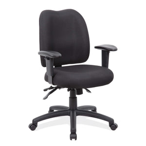 OfficeSource Advanced Collection Multi-Function Task Chair with Adjustable Arms and Black Frame in [variant_title] - Office Furniture Seating by OfficeSource - Only at the-eggleston-group