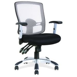 OfficeSource Artesa Collection Mesh, 3 Paddle Task Chair with Chrome Base and Arms in [variant_title] - Office Furniture Seating by OfficeSource - Only at the-eggleston-group