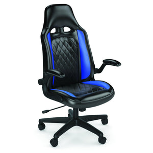 OfficeSource Blue Striker Collection High Back Gaming Chair with Black Frame in [variant_title] - Office Furniture Seating by OfficeSource - Only at the-eggleston-group