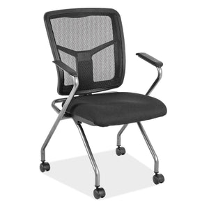 OfficeSource CoolMesh Collection Nesting Chair with Titanium Gray Frame in [variant_title] - Office Furniture Seating by OfficeSource - Only at the-eggleston-group