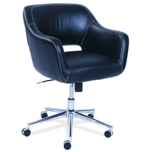 OfficeSource Hahn Collection Mid Back, Swivel Chair with Chrome Base in [variant_title] - Office Furniture Seating by OfficeSource - Only at the-eggleston-group