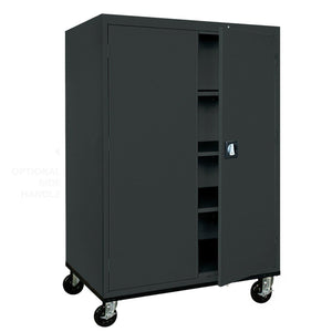 OfficeSource Mobile Storage Cabinets Mobile Storage Cabinet by OfficeSource in Black- for The Eggleston Group