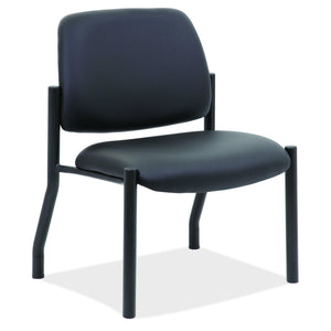 OfficeSource OS Big & Tall Collection Armless Guest Chair with Black Frame in [variant_title] - Office Furniture Seating by OfficeSource - Only at the-eggleston-group