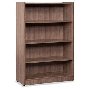OfficeSource OS Laminate Bookcases Bookcase - 4 Shelves by OfficeSource in Modern Walnut- for The Eggleston Group