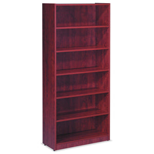 OfficeSource OS Laminate Bookcases Bookcase - 6 Shelves by OfficeSource in Mahogany- for The Eggleston Group
