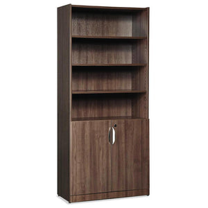 OfficeSource OS Laminate Bookcases Bookcase - Door Kit by OfficeSource in Modern Walnut- for The Eggleston Group