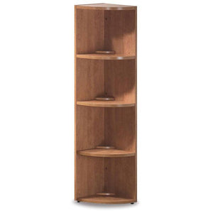 OfficeSource OS Laminate Collection Corner Bookcase by OfficeSource in Honey- for The Eggleston Group