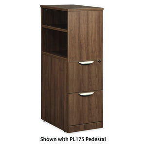 OfficeSource OS Laminate Collection Optional Open Cabinet in [variant_title] - Office Furniture Storage by OfficeSource - Only at the-eggleston-group