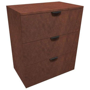 OfficeSource OS Laminate Lateral Files 3 Drawer Lateral File by OfficeSource in Mahogany- for The Eggleston Group
