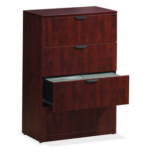 OfficeSource OS Laminate Lateral Files 4 Drawer Lateral File by OfficeSource in Cherry- for The Eggleston Group