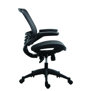 OfficeSource Plexus Collection All Mesh Task Chair with Arms and Black Base in [variant_title] - Office Furniture Seating by OfficeSource - Only at the-eggleston-group