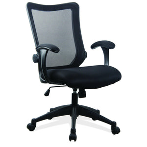 OfficeSource Plexus Collection Mesh Back Task Chair with Arms and Black Base in [variant_title] - Office Furniture Seating by OfficeSource - Only at the-eggleston-group