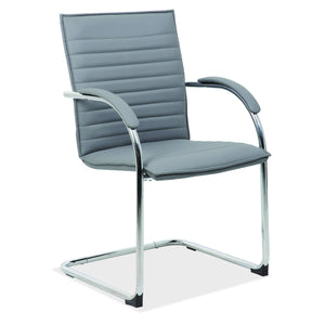 OfficeSource Ridge Collection Sled Based Guest Chair with Chrome Frame in [variant_title] - Office Furniture Seating by OfficeSource - Only at the-eggleston-group