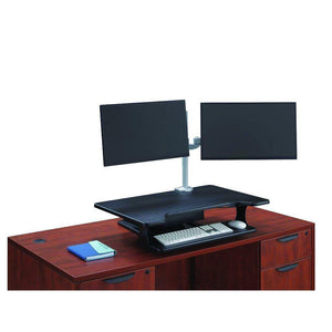 OfficeSource StandUp Pneumatic Desk Riser Pneumatic Desk Riser by OfficeSource in Black- for The Eggleston Group