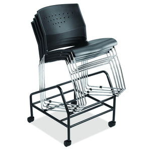 OfficeSource Tower Collection Black Chair Dolly by OfficeSource in Black- for The Eggleston Group