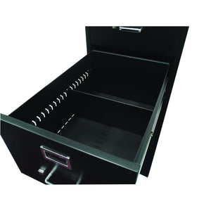 OfficeSource Vertical File Collection 2 Drawer Vertical Letter File - 25'' D by OfficeSource in Black- for The Eggleston Group