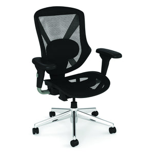 OfficeSource Viking Collection Mid Back All Mesh Task Chair with Chrome Base in Black Mesh - Office Furniture Seating by OfficeSource - Only at the-eggleston-group