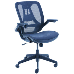 OfficeSource Wellness Collection Mesh Chair with Infinite Support Technology with Black Frame in Black - Office Furniture Seating by OfficeSource - Only at the-eggleston-group