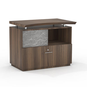 Sterling Single Lateral File with Acrylic Door in Textured Brown Sugar - Office Furniture Storage by Mayline - Only at the-eggleston-group