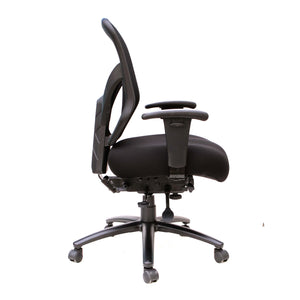 The Decima by OfficeSource in Black Seat with Black Mesh Back- for The Eggleston Group
