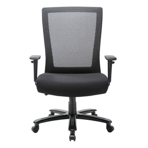 The Nundina by OfficeSource in Black Back with Black Seat- for The Eggleston Group